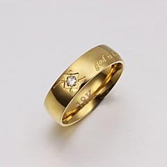 Męskie Obrączki luksusowa biżuteria biżuteria kostiumowa Kryształ Stal tytanowa Pozłacane Biżuteria Na Ślub Impreza Codzienny Casual