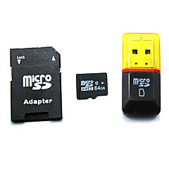 64GB Clase 10 SD/SDHC/SDXC / MicroSD/MicroSDHC/MicroSDXC/TF / Adaptadores y cajasMax Read Speed10MB/S (MB/S)Max Write Speed10MB/S (MB/S)