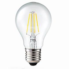 お買い得  LED 電球-E26/E27 フィラメントタイプLED電球 G60 4 LEDの COB 調光可能 装飾用 温白色 400lm 3200K 交流220から240V