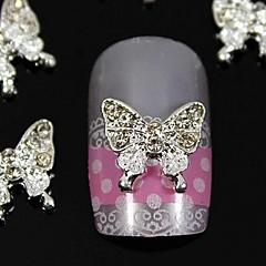 10pcs accesorios de la joyería de belleza de la mariposa de diamantes de imitación para la decoración del arte del clavo extremidades del dedo