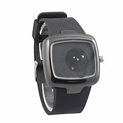 お買い得  メンズ腕時計-男性用 クォーツ 日本産クォーツ ユニークなクリエイティブウォッチ スポーツウォッチ 耐水 シリコーン バンド ブラック