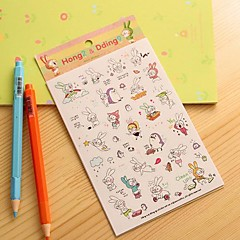 Little Rabbit Diary Sticker(6 PCS)