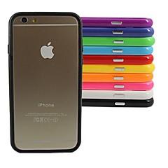 Недорогие Кейсы для iPhone 6-Кейс для Назначение Apple iPhone 6 iPhone 6 Plus Прозрачный Бампер Сплошной цвет Твердый ПК для iPhone 6s Plus iPhone 6s iPhone 6 Plus