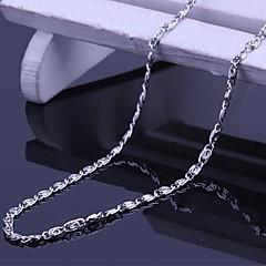 Nyakláncok Titanium Acél Ékszerek Egyedi Divat Ezüst Ékszerek Napi Hétköznapi 1db