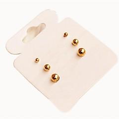 preiswerte Ohrringe-Damen Ohrstecker - Golden Für Alltag