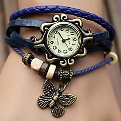 お買い得  大特価腕時計-女性用 クォーツ ドレスウォッチ ホット販売 PU バンド 蝶型 ボヘミアンスタイル ブラック ブルー オレンジ ブラウン グリーン