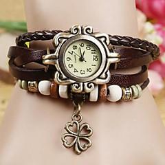 Kadın's Moda Saat Bilezik Saat Quartz PU Bant Bohem Siyah Beyaz Mavi Kırmızı Turuncu Kahverengi Yeşil