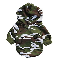Cat Dog Hoodie Dog Clothes Breathable Fashion Camouflage Camouflage Color Costume For Pets