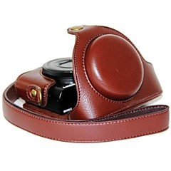 소니 DCS-rx100 II m2 m3의 rx100 III rx100를위한 어깨 끈과 dengpin® 가죽 카메라 케이스 여지 패턴