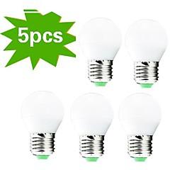 お買い得  LED 電球-5個 400lm E26 / E27 LEDボール型電球 G45 27 LEDビーズ SMD 3022 装飾用 温白色 220-240V / RoHs