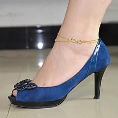 Χαμηλού Κόστους -shixin® των γυναικών της μόδας κράμα anklet (20 εκατοστά * 1 εκατοστό * 0,5 εκατοστά) (ασημί, χρυσό) (1 τεμ)