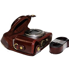 dengpin® lederen beschermhoes camera case tas hoes met schouderband voor de Sony DSC-hx50v HX60 HX50 HX30 HX10 LCJ-hn
