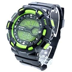 お買い得  大特価腕時計-男性用 スポーツウォッチ カレンダー クロノグラフ付き バンド デジタル ブラック / グリーン ブラックとブルー ブラックとオレンジ