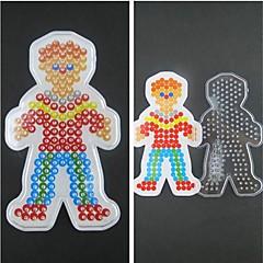 1db sablon világos biztosíték gyöngyök pegboard fiú fiú minta 5mm hama gyöngyök DIY kirakós