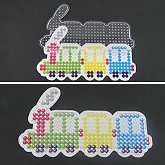 5mm 하마 비즈 퓨즈 비즈 DIY 퍼즐에 대한 1PCS 템플릿 분명 페그 보드 다채로운 기차 패턴