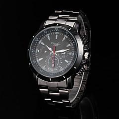 お買い得  メンズ腕時計-男性用の腕時計黒い合金のドレスウォッチ