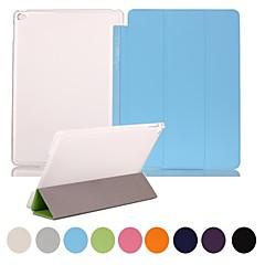 voordelige iPad Air 2 hoesjes-natusun ™ slank slim zachte pu lederen cover harde doorzichtige plastic omhulsel geïntegreerd met slaap beugel voor ipad lucht 2