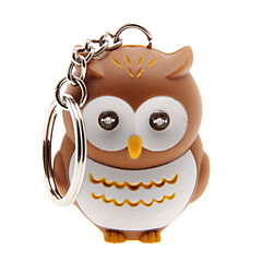 cheap Luminous Jewelry-LED Lighting Key Chain Toys Key Chain LED Lighting Sound Owl ABS Cartoon Illuminated Luminous Fluorescent Pieces Christmas Birthday