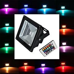 tanie Oświetlenie zewnętrzne-Reflektory LED 1 Diody lED High Power LED 900lm RGB Zdalnie sterowana AC 85-265