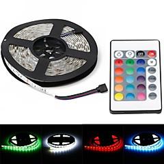 povoljno LED strip svjetla-vodootporni 72w 5000lm 625nm 300-SMD 5050 RGB LED svjetlo ukras traku w / eu čep (5m)