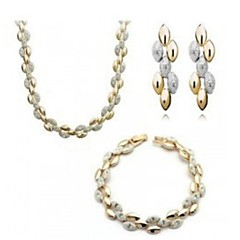 Necklace and earring and  bracelet Suits Women Vintage/Cute/Party/Work/Casual Alloy/Crystal Other)
