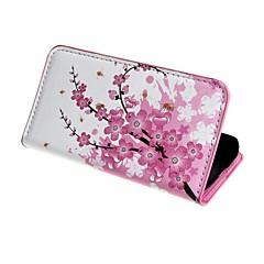 Mert Samsung Galaxy tok Pénztárca / Kártyatartó / Állvánnyal / Flip / Minta Case Teljes védelem Case Virág Műbőr Samsung Ace 4