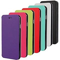 Недорогие Кейсы для iPhone 5-Кейс для Назначение iPhone 5 Apple Кейс для iPhone 5 Флип Ультратонкий Чехол Сплошной цвет Твердый Кожа PU для iPhone SE/5s iPhone 5