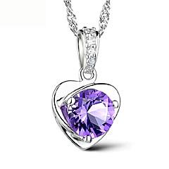 preiswerte Halsketten-Damen Anhängerketten / Anhänger - Sterling Silber Retro, Party, Büro Weiß, Purpur Modische Halsketten Für Alltag