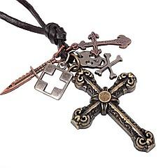 Недорогие Ожерелья-Кожа Ожерелья с подвесками  -  Серебряный Ожерелье Назначение Повседневные