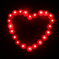 Coway 1PCS LED Red Candle Shaped Light Party Supply Wedding Decoration