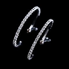 tanie Kolczyki koła-Damskie Kolczyki koła biżuteria kostiumowa Kryształ Biżuteria Na Ślub Impreza Codzienny Casual