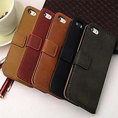 tegnebog stil pu læder hele kroppen tilfældet med stativ og kort slot til iPhone 4 / 4S (assorterede farver)
