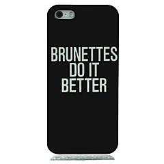 For iPhone 6 etui iPhone 6 Plus etui Mønster Etui Bagcover Etui Ord / sætning Hårdt PC foriPhone 7 Plus iPhone 7 iPhone 6s Plus/6 Plus