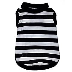 Cat / Dog Shirt / T-Shirt Black Dog Clothes Spring/Fall Stripe / Hearts