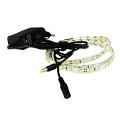 olcso LED szalagfények-jiawen® 1m 4w 60x3528smd 6000-6500k fehér / meleg fehér led rugalmas szalag fény + 1a (váltóáramú 110-240V)