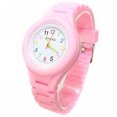 preiswerte Damenuhren-Armbanduhren für den Alltag Modeuhr Quartz Armbanduhren für den Alltag Silikon Band Analog Süßigkeit Schwarz / Weiß / Blau - Grün Blau Rosa Ein Jahr Batterielebensdauer / ETA 377A