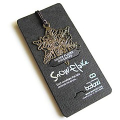 Snowflakes Fine Stainless Steel Bookmark For School / Office