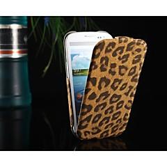 voordelige Galaxy S3 Hoesjes / covers-Voor Samsung Galaxy hoesje Flip / Patroon hoesje Volledige behuizing hoesje Luipaardprint PU-leer Samsung S3
