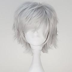 billige -Cosplay Parykker Tokyo Ghoul Ken Kaneki Grå Kort / Ret Anime Cosplay Parykker 32 CM Varmeresistent Fiber Mand