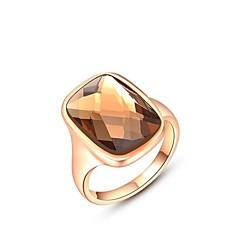 preiswerte Ringe-Damen Statement-Ring - Krystall, vergoldet Modisch 6 / 7 / 8 Silber / Golden Für Hochzeit / Party / Alltag
