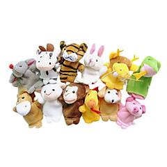 cheap Puppets-Finger Puppets Puppets Cute Lovely Novelty Cartoon Textile Plush Girls' Gift 12pcs