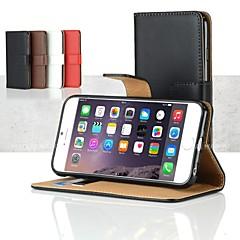 Недорогие Кейсы для iPhone-Кейс для Назначение Apple iPhone 6 iPhone 6 Plus Бумажник для карт Кошелек со стендом Флип Чехол Сплошной цвет Твердый ПК для iPhone 6s