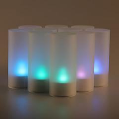 12PCS 사운드 센서 깜박 7 색상 변경은 촛불을 주도