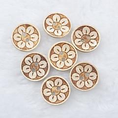 blomstermønster scrapbog scraft syning diy kokos shell knapper (10 stk)