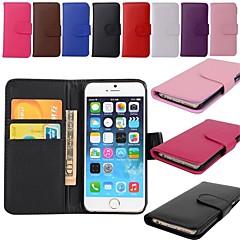 Недорогие Кейсы для iPhone-Держатель карточки бумажника PU кожаный чехол для Iphone 6с 6 плюс