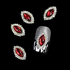10pcs Marquise roșu DIY accesorii din aliaj de unghii arta decorativa