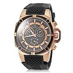preiswerte Tolle Angebote auf Uhren-V6 Herrn Sportuhr Silikon Band Schwarz / Weiß / Blau
