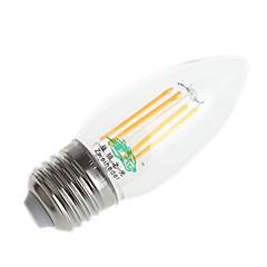 お買い得  LED 電球-1個 4W 3000-3500/6000-6500 lm E26/E27 フィラメントタイプLED電球 C35 4 LEDの DIP LED 装飾用 温白色 クールホワイト AC 220-240V