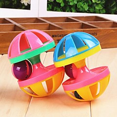 Cat Toy Dog Toy Pet Toys Interactive Squeaking Toy Bell Dumbbell Plastic For Pets