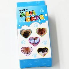 weichen Nagelkappen mit Kleber für Hunde Katzen Krallen - 20 St. / Pack (XS-L, farblich sortiert)
